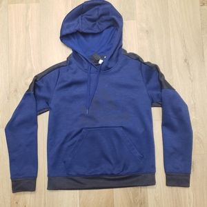 Adidas Climawarm Two-toned Blue Hoodie Sz Small
